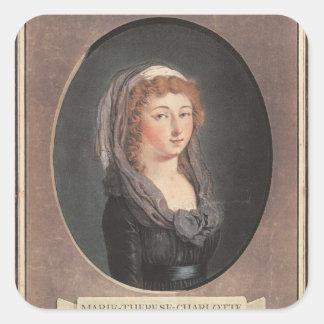 Marie-Therese-Charlotte de Frankrike åldras Fyrkantigt Klistermärke