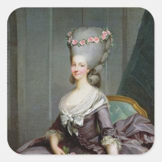 Marie-Therese de Savoie-Carignan Princess Fyrkantigt Klistermärke