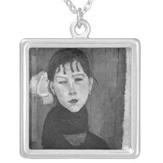 Marie ung kvinna av folket silverpläterat halsband