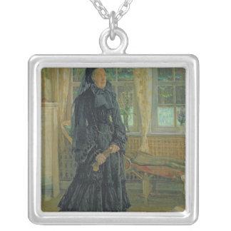 Marie Zacharias regniga Dag, 1904 Silverpläterat Halsband