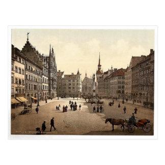 Marienplatz Munich, Bayern, tysklant storartat Vykort