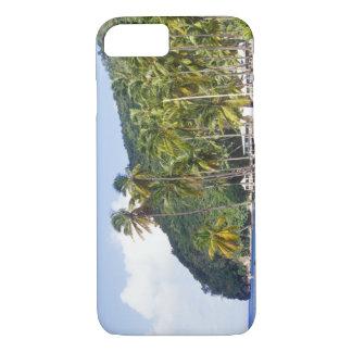 Marigot fjärd, St Lucia som är karibiskt