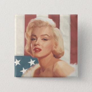 Marilyn flagga standard kanpp fyrkantig 5.1 cm
