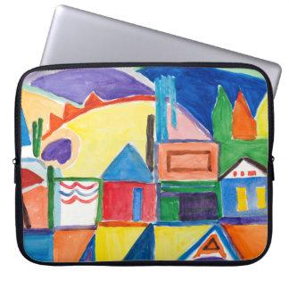 """Marilyn Holmes konst """"laptop sleeve för townen"""""""