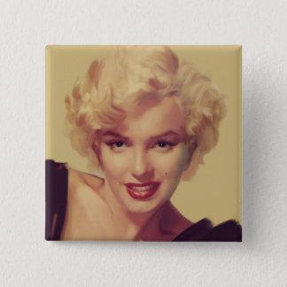 Marilyn i svart standard kanpp fyrkantig 5.1 cm