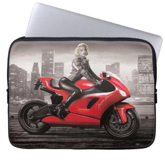 Marilyns motorcykel laptop sleeve