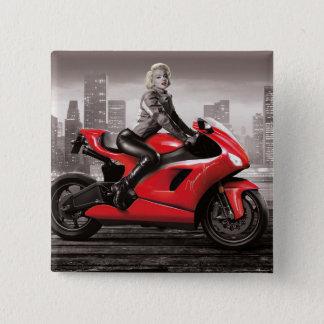 Marilyns motorcykel standard kanpp fyrkantig 5.1 cm