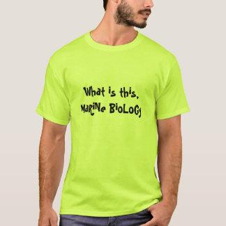 Marin- biologi tee shirt