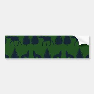Marin för träd för gräs för vildälgvarger lantlig bildekal