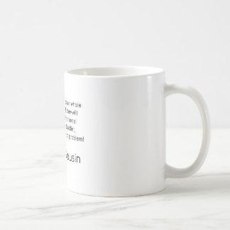 Marin- kusin inget problem honom kaffemugg