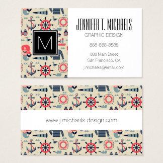 Marin- livmönster visitkort