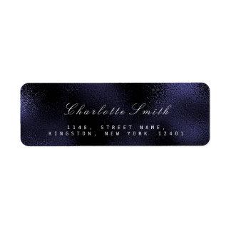 Marin- nautisk returetiketter för Glass blått Returadress Etikett