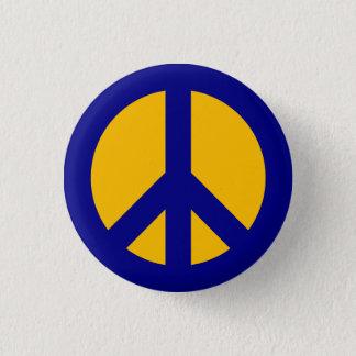 Marin- och guldfredsymbolet knäppas mini knapp rund 3.2 cm