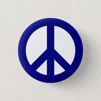 Marin- och vitfredsymbolet knäppas mini knapp rund 3.2 cm