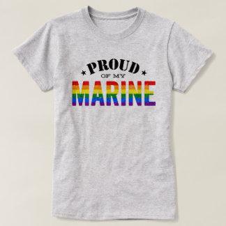Marin- regnbågeflagga för gay pride t-shirts
