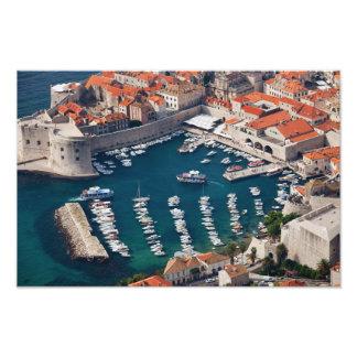 Marina i den gammala townen av Dubrovnik Fotografi