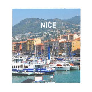 Marina i Nice, frankrike Anteckningsblock