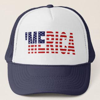 '(Marinblå) flagga för MERICA US, Truckerkeps