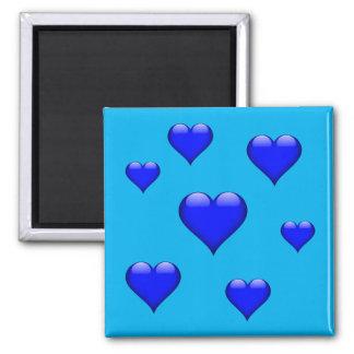 Marinblå Glass hjärta belagd med tegel anpassade