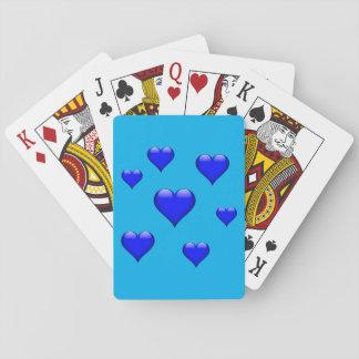 Marinblå Glass hjärta belagd med tegel anpassade Kortlek