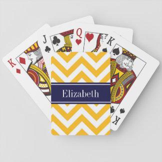 Marinblå känd Monogram för Goldenrod vitLG-sparre Casinokort