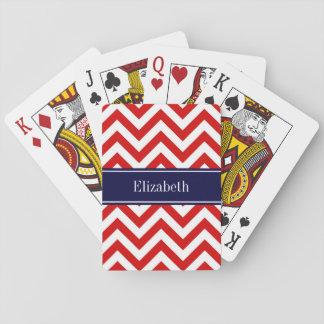 Marinblå känd Monogram för röd vitLG-sparre Casinokort