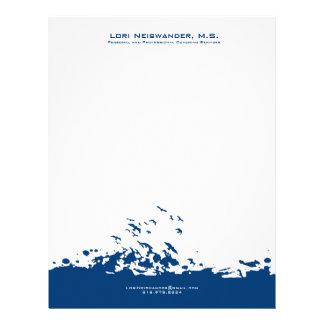 Marinblå och för vitflygfåglar illustration brevhuvud