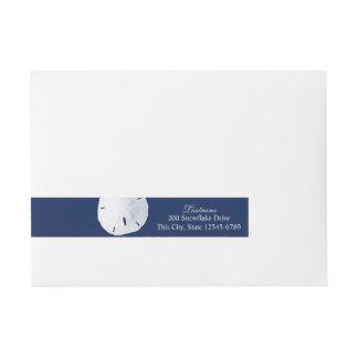 Marinblå Sanddollar Etikettband