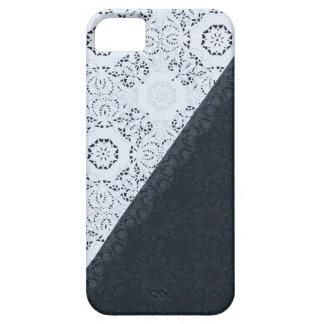 Marinblå snöreelegant och sofistikerad design iPhone 5 Case-Mate skal