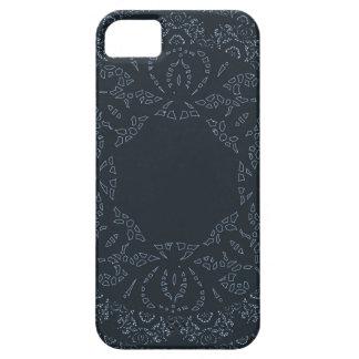 Marinblå snöreelegant och sofistikerad design iPhone 5 hud