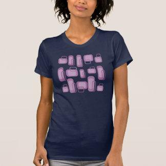 Marinblå utslagsplatsskjorta för skraj retro lila t shirt