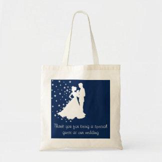 Marinblått bröllop för Silhouettes Tygkasse