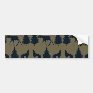 Marinblått för träd för gräs för vildälgvarger lan bildekal