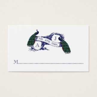 Marinblått kort för ställe för