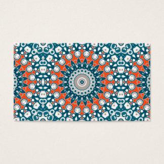 Marinblått och orange på vitmedaljongkonst visitkort