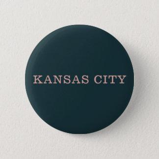 Marinen och rosa Kansas City knäppas Standard Knapp Rund 5.7 Cm