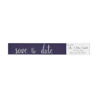 Marinen och silver sparar dateraadressetiketter etikettband