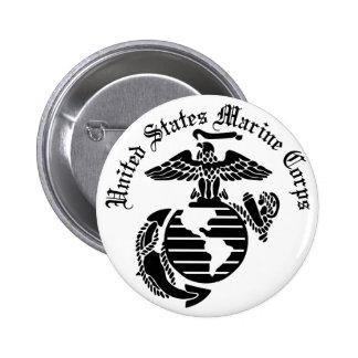 Marinkorpraler för USMC United States Standard Knapp Rund 5.7 Cm