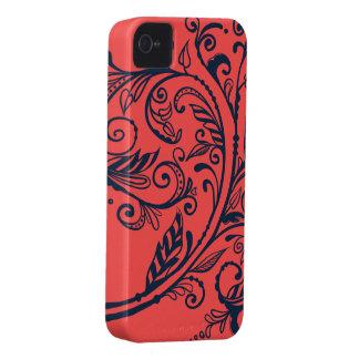 Marinkrusidull på korall iPhone 4 Case-Mate fodral
