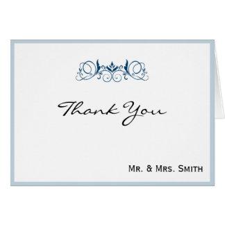 Marinrand med blom- brytningbrölloptack OBS kort