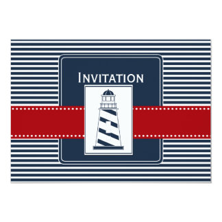 marinrandar, fyr, nautisk bröllopsinbjudningar 12,7 x 17,8 cm inbjudningskort