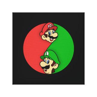 Mario Luigi Yin Yang Canvastryck