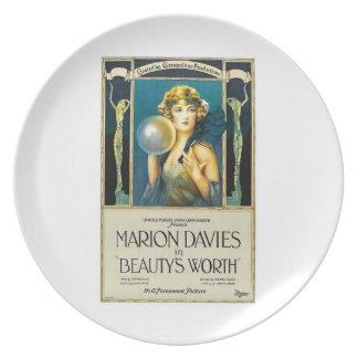 Marion Davies skönhet vintage 1922 för värd filmar Tallrik