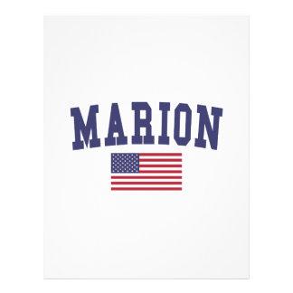 Marion US flagga Brevhuvud