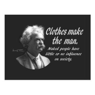 Mark Twain: Kläder gör manen Vykort