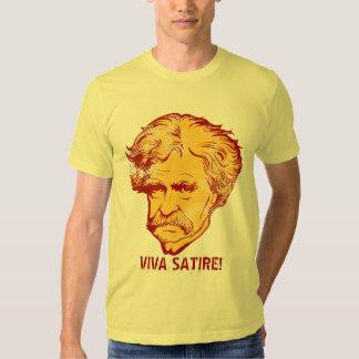 """Mark Twain """"Viva satir"""" T-tröja Tee"""