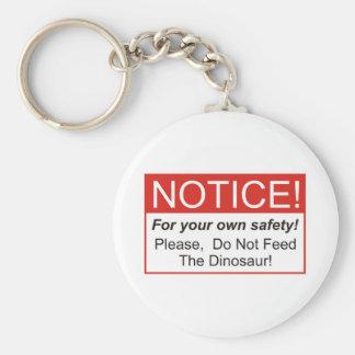 Märka/dinosauren Rund Nyckelring