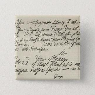 Märka från George III till hans farfar Standard Kanpp Fyrkantig 5.1 Cm