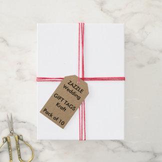 Märker den beställnings- gåvan för bröllop KRAFT Presentetikett