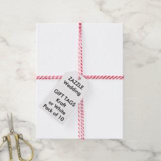 Märker den beställnings- gåvan för bröllop VIT Presentetikett